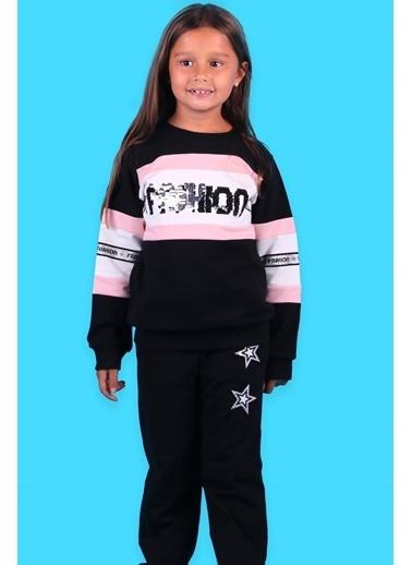 Breeze Pul Işlemeli Kız Çocuk Eşofman Takımı Siyah